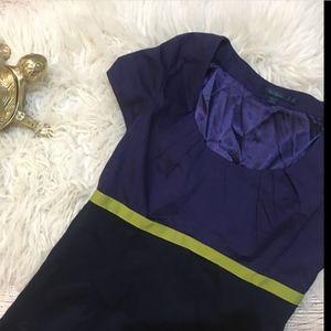 BODEN Shift Dress black Navy color block career 10